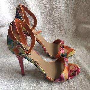 Spring Ankle Strap  Heel
